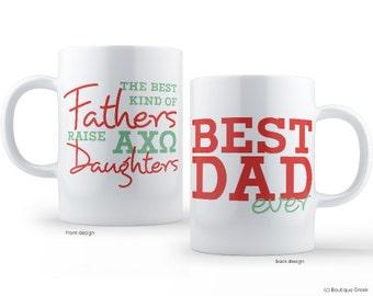 AXO Alpha Chi Omega Best Dad Mug Sorority Father Mug