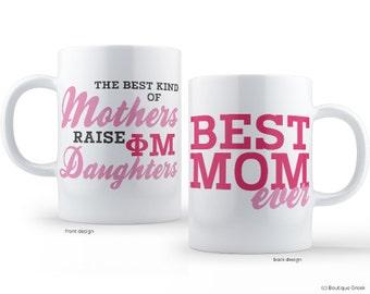Phi Mu Best Mom Sorority Mug