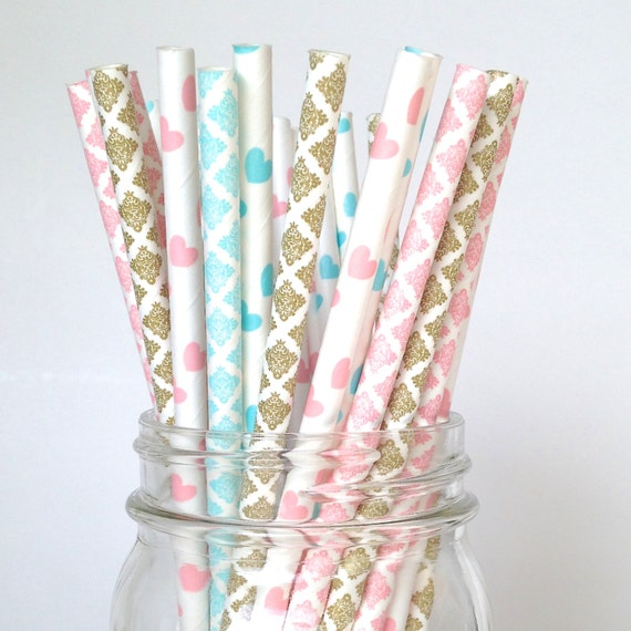 Basket Weaving Osi : Gender reveal party straws decorations