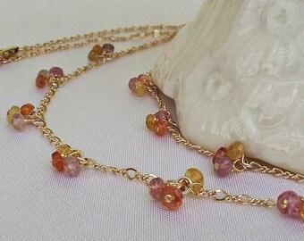 Sapphire Sunrise Necklace
