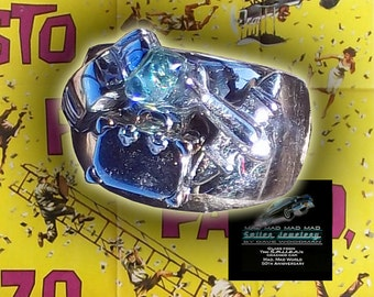 "Ring made with ""It's a Mad, Mad, Mad, Mad World"" authentic movie artifact car glass."