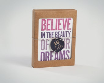 Stationery - Note Card Set - Sentiment Collection - inspirational, typographic, recycled
