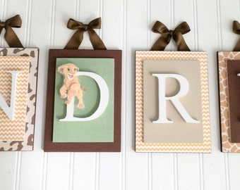 Nursery letters,Lion King Inspired Nursery Letters, Wooden Wall Letters,Boys Nursery Letters,Hanging Wall Letters,Simba Nursery,Boys Letters