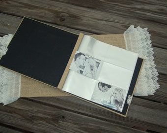 12 x 12 Page ADD-ON or 4 x 6 Photo Page Add-ON for our Rustic Photo Album/ Burlap Photo Album/ Shabby Chic Photo Album