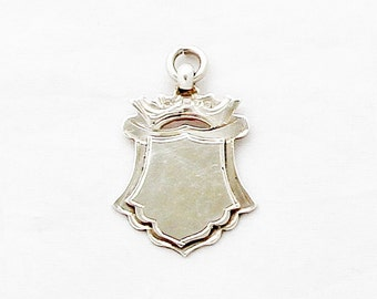 Antique Sterling Silver Fob Pendant