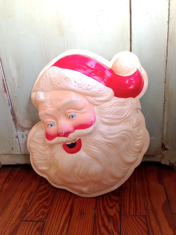 Santa Face Light Vintage Santa Light Vintage Light Up Santa