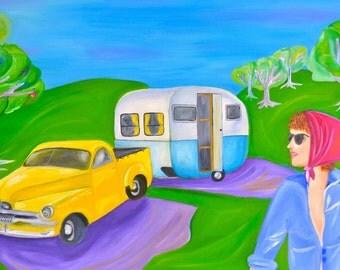 Lady and Caravan