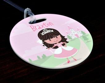 Princess Bag Tag, Personalized Princess Bag Tag, Princess Luggage Tag, Princess Gifts, School Bag Tag, Custom Bag Tag, Personalized Gifts
