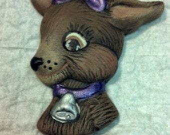 Reindeer Head Magnet
