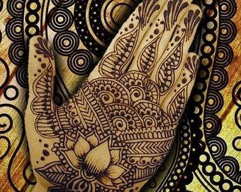 Henna Indian Beauty 1 - Giclee Print