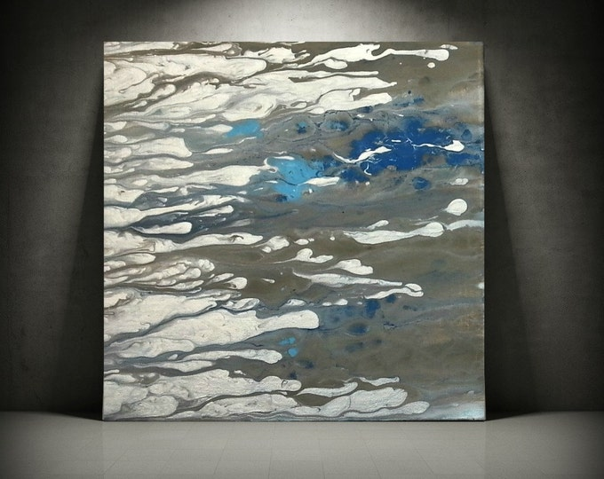 Art Painting, Acrylic Painting, Abstract Painting, Small Wall Art, Blue Painting, Small Painting, Canvas Art, Art by L Dawning Scott 12 x 12