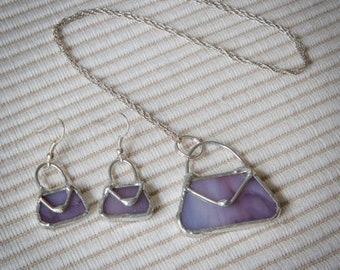 Earrings Vintage-style stained glass handbags