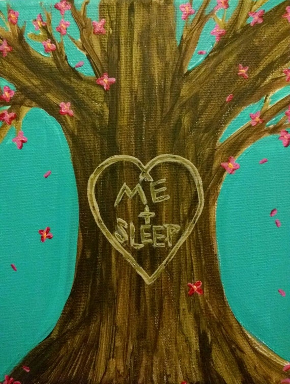 Wedding Gift Paintings : acrylic painting- names/initials on tree wedding gift, engagement gift ...
