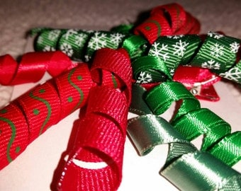 Curly Ribbon Holiday Clip