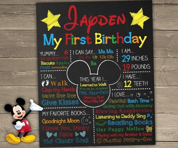 Mickey mouse birthday printables mickey mouse birthday for First birthday board template