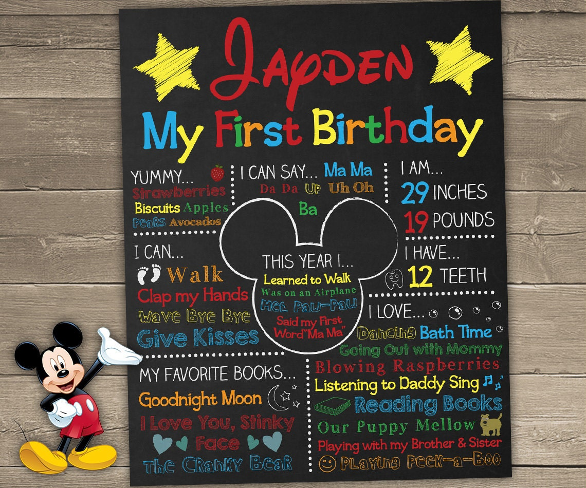 first birthday board template - mickey mouse birthday printables mickey mouse birthday