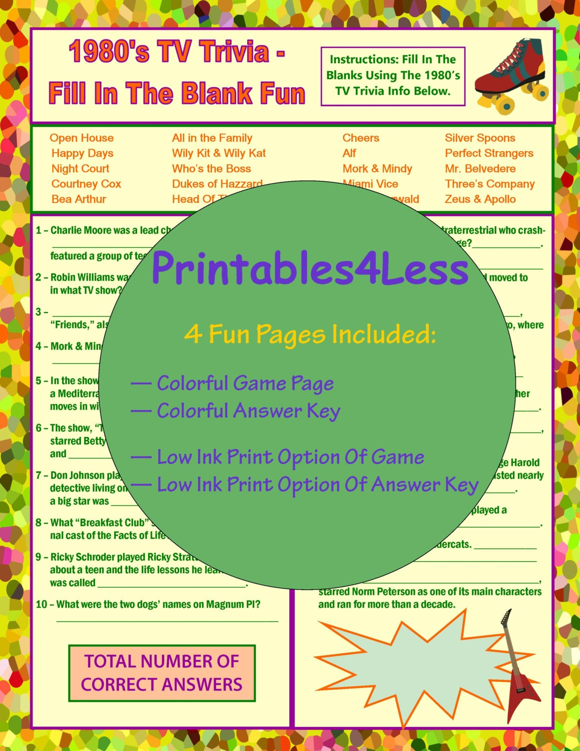 It is an image of Priceless Printable Trivia Game