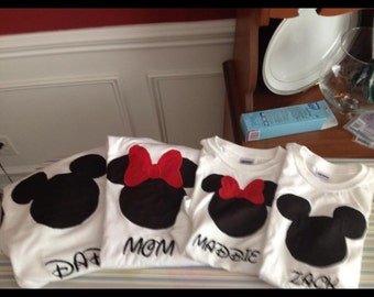 Personalized Mickey or Minnie Shirt