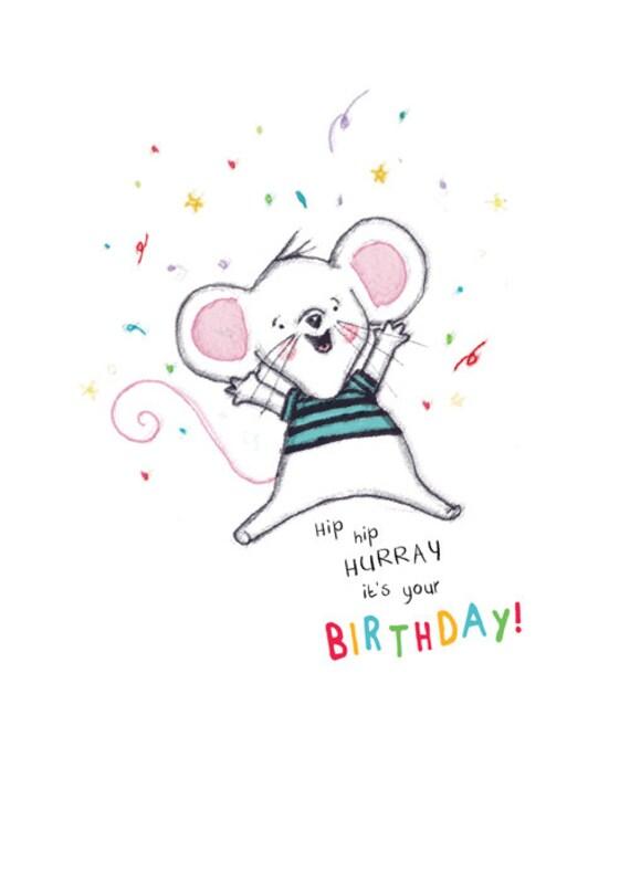 Hip hip hooray it s your birthday rosie amp radish scribbles