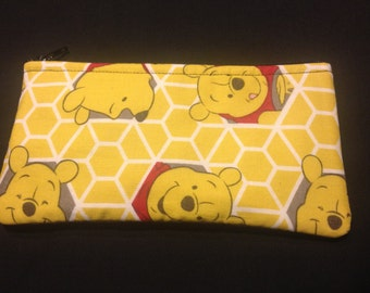 Winnie the Pooh Pencil Case / Zipper Pouch #170