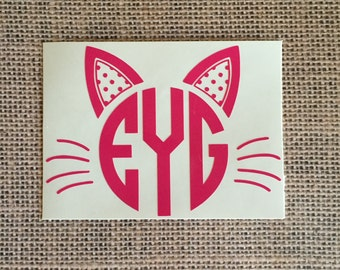 Cat Monogram *Please read entire description*