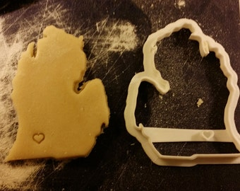 State and city custom cookie cutter personalized initials birthday gift