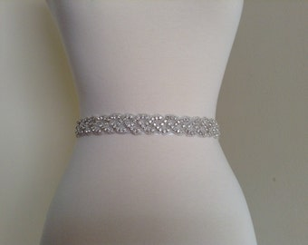 beautiful sash for wedding dress. bridal sash, wedding dress belt