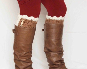 Lace Trim Boot Cuffs-WIDE CALF sizes available