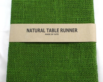 "Burlap Table Runner 24"" x 108"" , rustic, country, weddings, finish edges, great for home decor. Available in other colors (BH-Lxx)"