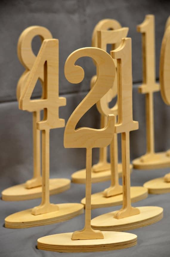 beautiful diy wood table numbers 12