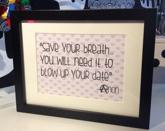 "Framed ""Sarcasm Sign"" by AsBeAu ""Date"""