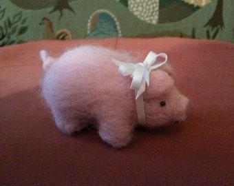 Felted Pig