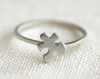 Autism Awareness Puzzle Piece Ring