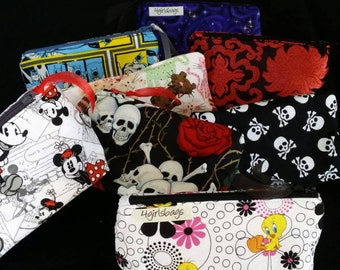 Matching cosmetic bag, make-up bag, zipper pouch, add on.