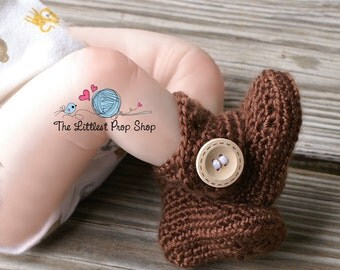 Crochet baby button boot slippers-slipper boots-baby booties-newborn booties-baby shoes-newborn photo prop