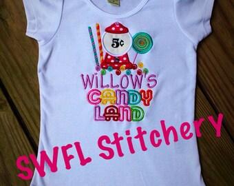 Candy Land Inspired Birthday Shirt