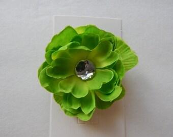 Lime Green Hair Flower clip, girls hair accessories, girls hair flower, Children, petite Flower, toddler, girls , flower clip, Easter