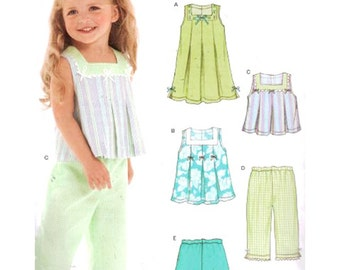 Simplicity Sewing Pattern 6473 Toddlers' Dress, Pants, Shorts, Top  Size:  A  .5-4  Used