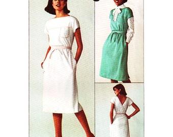 Simplicity Sewing Pattern 7920 Misses' Back-Wrap Dress or Jumper Size:  10-12  Uncut