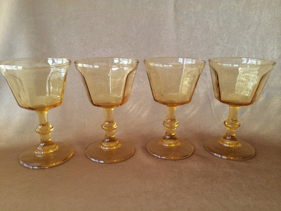 Vintage Wine Glasses Lenox Antique Yellow Small Wine By