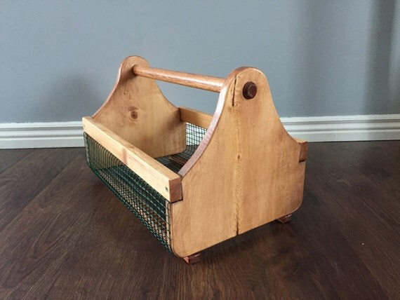 Large Wood Handle Garden harvest basket