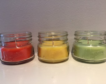 Citronella Mason Jar Candle - Wax Candle - 3 oz Candle - Bug Repellant - Citronella Scent - Patio Candle - Outdoor Candle - READY TO SHIP