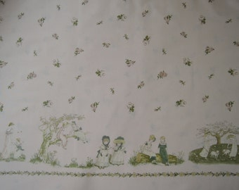 "1 Panel of 2014 (31006-20) Lecien Kate Greenaway Fabric on Creamy Peach Background. Approx. 24"" x 44"" Made in Japan"