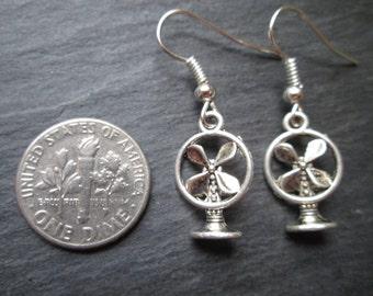 Petite Vintage Electric Fan Charm Earrings