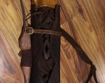 LOTR inspired Archery Quiver, Ranger style quiver/ bow holder