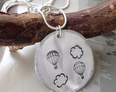 Christmas gift  gift for her  stocking filler  handmade necklace  Handmade Adventure necklace  Hand stamped necklace  Travelling