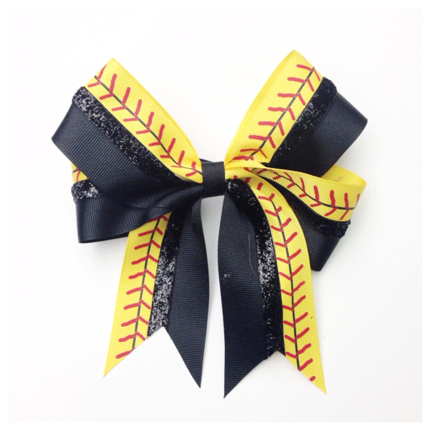 foto de Yellow Stitch Softball Bow