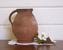 Vintage Pottery Jug, Rustic Pottery Jug, Lake's Cornish Pottery, Salt Glazed Pottery, Primitive Pottery Jug