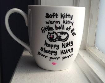 Soft kitty coffee mug