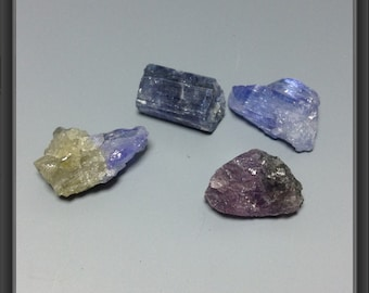 Tanzanite 4 colorful stones 11 to 13mm long